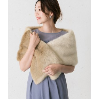 (URBAN RESEARCH OUTLET/アーバンリサーチ アウトレット)【ROSSO】ECOFURShawl/レディース IVORY×BE