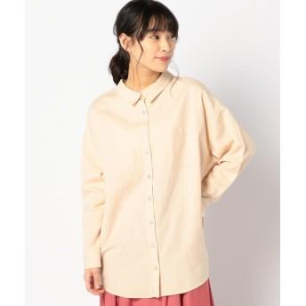 (Khaju/カージュ)Khaju:オーバーサイズシャツ/レディース ベージュ