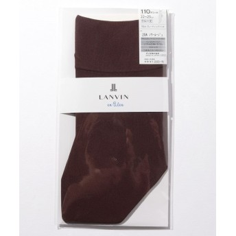 (LANVIN en Bleu(ladies socks)/ランバンオンブルーレディスソックス)110D クルー丈/レディース ノワールルージュ