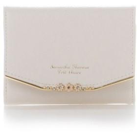(Samantha Thavasa Petit Choice/サマンサタバサプチチョイス)お花バーシリーズ(折財布)/レディース ホワイト
