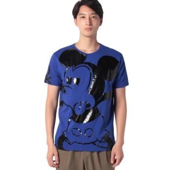 (BENETTON (mens)/ベネトン メンズ)【Disney(ディズニー)コラボ】ミッキーマウスループロゴTシャツ・カットソー/メンズ ブルー