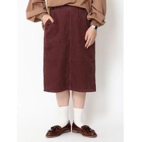 (SEVENDAYS=SUNDAY/セブンデイズサンデイ)コーデュロイタイトスカート/レディース ピンクベージュ