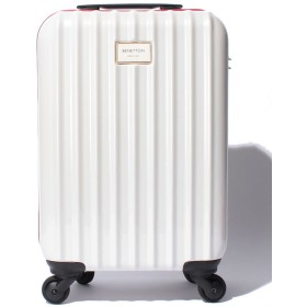 (BENETTON (women)/ベネトン レディース)【S】静走ラインキャリーケース・スーツケース機内持込可 容量約29L 静音/レディース ホワイト