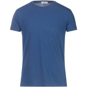 《セール開催中》CROSSLEY メンズ T シャツ ダークブルー S コットン 85% / カシミヤ 15%