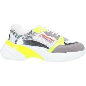 《セール開催中》PINKO レディース スニーカー&テニスシューズ(ローカット) ホワイト 38 革 / 紡績繊維 / 指定外繊維
