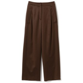 (BEAMS OUTLET/ビームス アウトレット)Demi-Luxe BEAMS / ウールサテン パンツ/レディース BROWN
