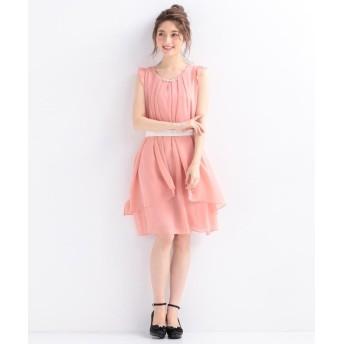 (Feroux/フェルゥ)【洗える】3WAYラッフル ドレス/レディース ピンク系