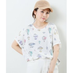 (framesRayCassin/フレームスレイカズン)気球ドルマンTシャツ/レディース オフ白