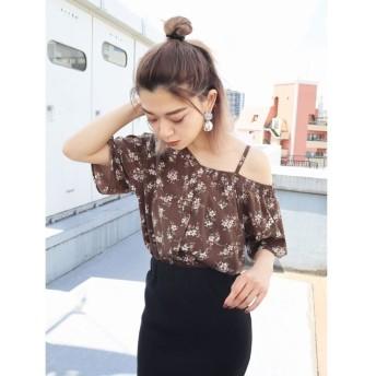 (EMODA/エモダ)BIASラインシャツトップ/レディース ライトミックス