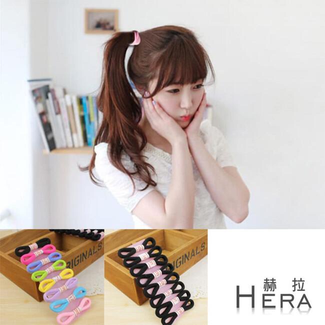 hera 赫拉純色高彈力毛巾髮圈/髮束-16入組