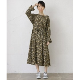 (URBAN RESEARCH OUTLET/アーバンリサーチ アウトレット)【WAREHOUSE】花柄スキッパーワンピース/レディース カーキ