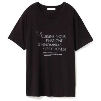 (GELATO PIQUE HOMME/ジェラートピケオム)【Joel Robuchon & gelato pique】 HOMME ロゴTシャツ/ユニセックス BLK