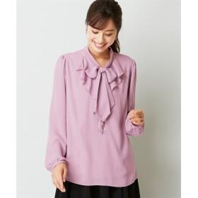 「入園。入学。卒園。卒業」人気のため新色追加!ボウタイフリルブラウス(吸汗速乾裏地付) (大きいサイズレディース) plus size shirts, 衫, 襯衫