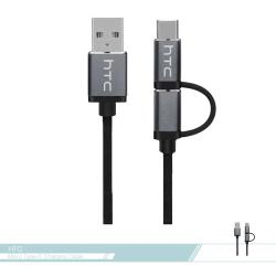 HTC 原廠 二合一傳輸充電編織線  Micro USB + Type C