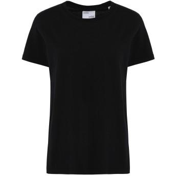 《セール開催中》COLORFUL STANDARD レディース T シャツ ブラック XS オーガニックコットン 100%