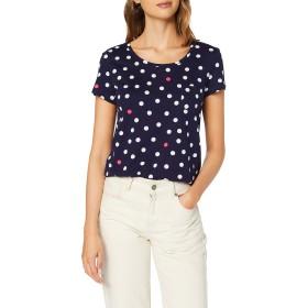 Tom Tailor Denim Women's Gepunktetes T-Shirt、(ブルーホワイトビッグドット18857)、ミディアム
