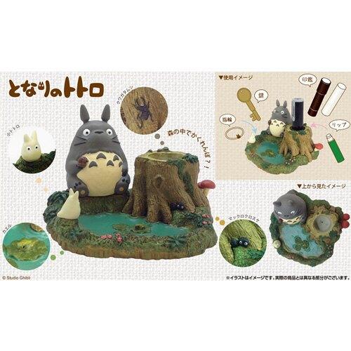 [猴吉本舖][預購]日本 正版 TOTORO 豆豆龍 宮崎駿 龍貓 印章台 置物台 小物收納台 可愛療癒小物