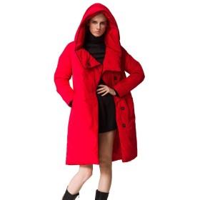 軽量ロングダウンジャケットレディースジャケット快適なフード付きジャケットレディースパイクコートレディースコールドジャケットレディースフード付きコットンジャケット,M