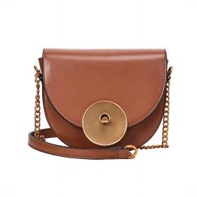 Aikemi kasur 女性のための女性の財布財布シングルショルダースリングチェーントレンドサドル (Color : Brown)