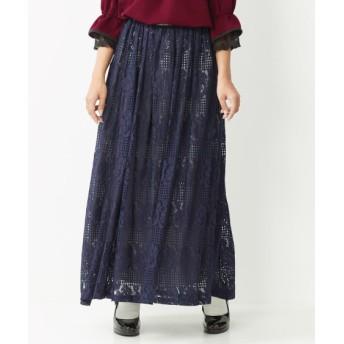 レースロングスカート (大きいサイズレディース)スカート, plus size skirts