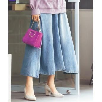 【大きいサイズ】 軽量ロング丈デニムスカート(オトナスマイル) スカート, plus size skirts