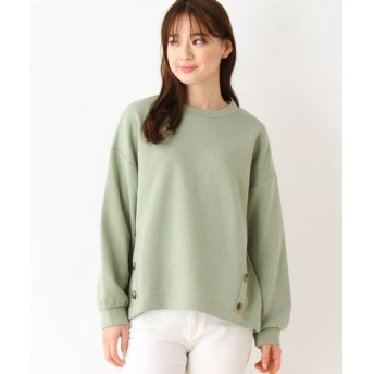 SHOO・LA・RUE/シューラルー フロント裾ボタンプルオーバー ライトグリーン(021) 02(M)