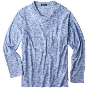 杢調Vネック長袖Tシャツ Tシャツ・カットソー, T-shirts
