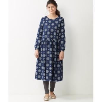 綿100%プリントワンピース (大きいサイズレディース)ワンピース, plus size dress