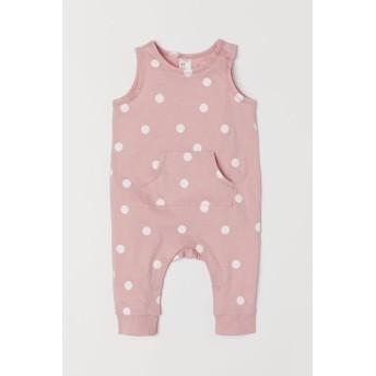 H & M - ジャージー ノースリーブロンパース - ピンク