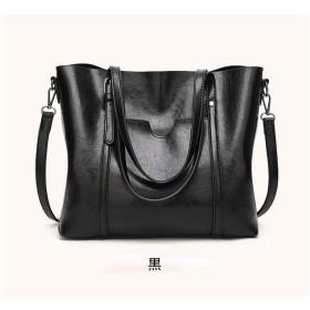 クロスボディバッグ、トレンディなレトロハンドバッグ、ヨーロッパとアメリカのファッションレディースハンドバッグ、オイルワックスレザーショルダーバッグ (Color : B)
