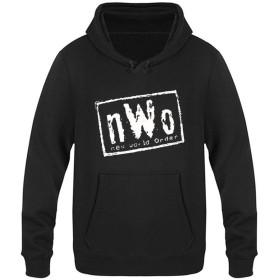NWOニュー ワールド オーダー プロレス団体 ベルベットのフード付きのセーターポケット付き ユニセックスプラス 付き巾着パーカープルオーバースウェットシャツ プラス パーカー スポーツフーディプルオーバー 2XL