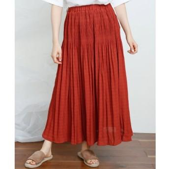 【レイカズン/RAY CASSIN】 楊柳マジョリカプリーツスカート