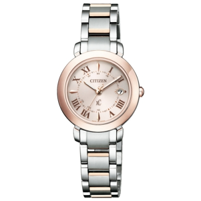 CITIZEN 星辰 XC 電波光動能鈦金屬腕錶 ES9445-57W