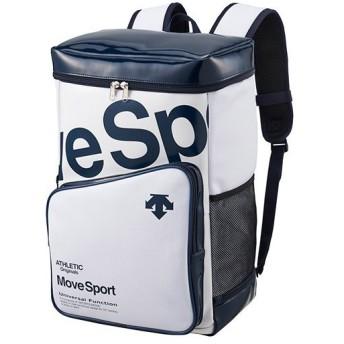 デサント(DESCENTE) ラバスポバックパック ホワイト×ネイビー DMAPJA40 WHNV リュックサック デイバッグ スポーツバッグ かばん 鞄 通勤通学