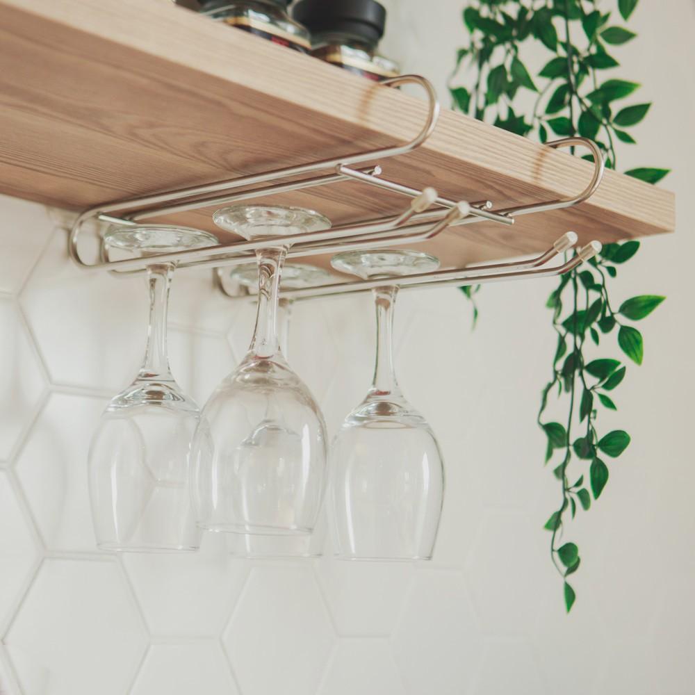 完美主義 不鏽鋼吊掛層板高腳杯架 瀝水架 酒杯架 置物架 收納架 廚房收納架 MIT台灣製【D0010】