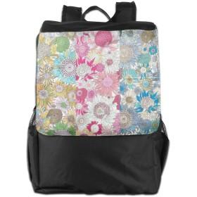 ヒマワリ バックパックリュック 大容量 メンズ バックパック カジュアルバッグ オシャレ旅行バッグ 通勤 通学 男女兼用バッグ 黒