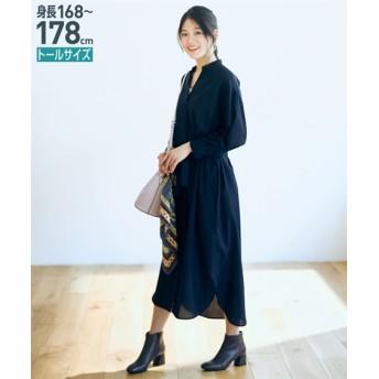 トールサイズ ロングシャツワンピース(共布ベルト付) 【高身長・長身】ロング・マキシワンピース, tall  size, Dress