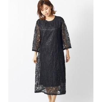 総レースワンピース(オトナスマイル) (大きいサイズレディース)ワンピース, plus size dress, 衣裙, 連衣裙