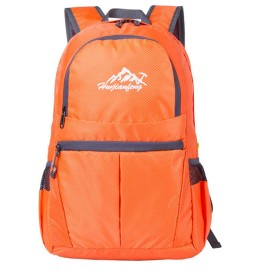 登山バッグ 軽量ユニセックスアウトドアバックパック軽量折りたたみフィットネス折りたたみ家庭旅行複数色 旅行キャンプ用 (Color : Orange)