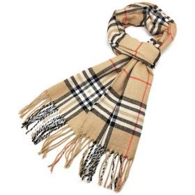 スカーフ模造カシミア秋と冬の英国タータンチェックロングシンプルで中年暖かいショール (Color : F)