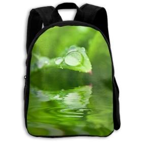 水自然草ドロップ露植物子供のキャンバス学校バックパックミニリュックサックスクールバッグ