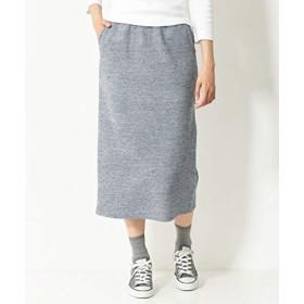[nissen(ニッセン)] スカート まるでニット!軽量ストレッチ裏起毛ロングスカート 杢グレー LL