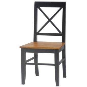 チェア 椅子 アンティーク調 BROCANTE ブラック 座面高43cm ( イス チェアー ダイニングチェア クラシック 黒家具 )