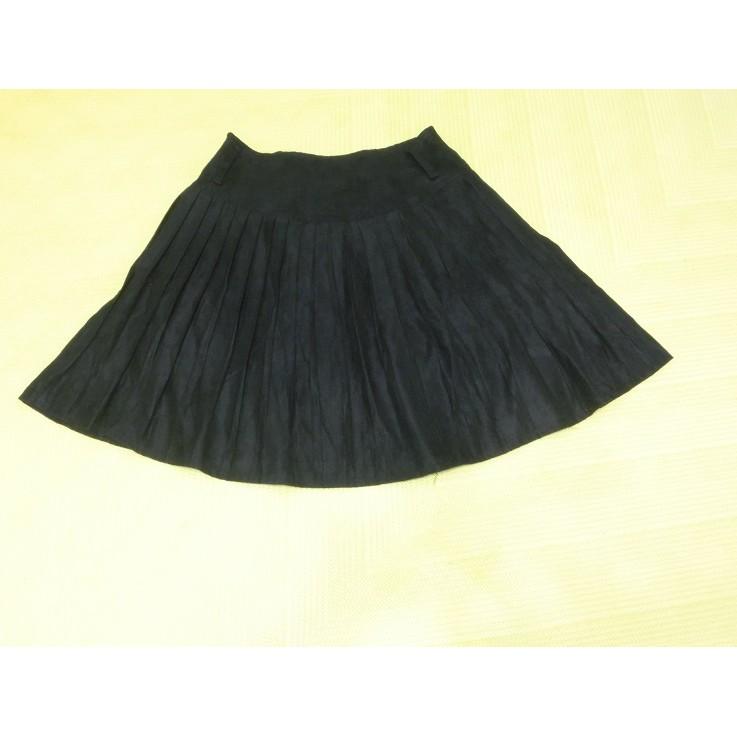 全新 J&D 黑色麂皮 百摺裙 短裙 圓裙