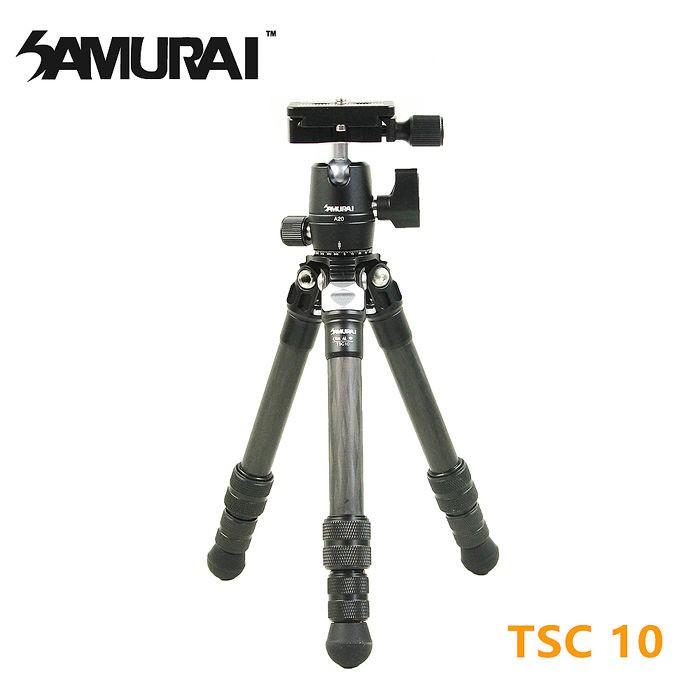 SAMURAI TSC 10 碳纖維小型腳架 底座可以360度全景拍攝 可依照需求調整拍攝角度