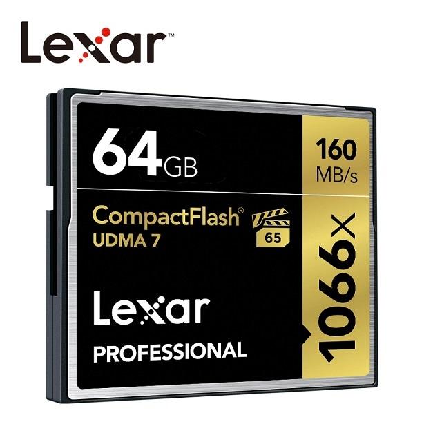 Lexar® 64GB Professional 1066x CompactFlash® 高速記憶卡