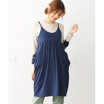 人気のためネット限定色追加!キャミソールカットソーチュニック (大きいサイズレディース)plus size tops, 上衣