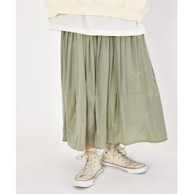 【50%OFF】 ダブルクローゼット しわサテンスカート レディース ミント FREE 【w closet】 【セール開催中】