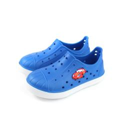 TWO BOSS 洞洞鞋 懶人鞋 藍色 中童 童鞋 no240