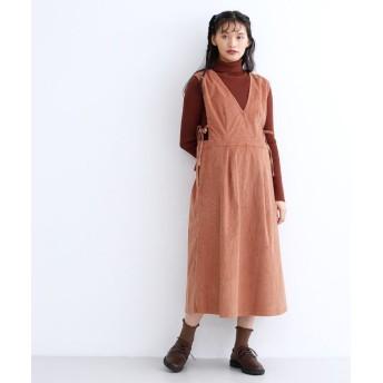 (merlot/メルロー)コーデュロイ2wayジャンパースカート/レディース ピンク